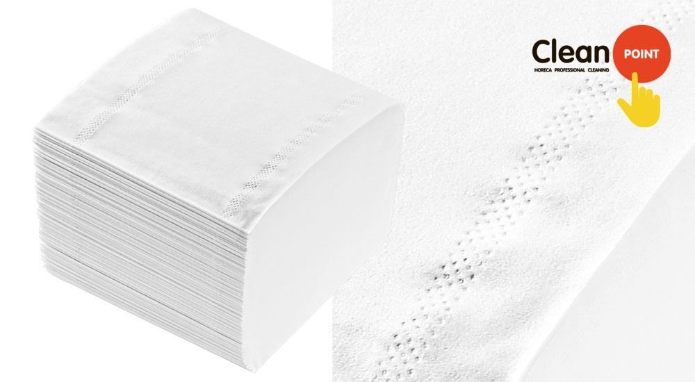 Листовая туалетная бумага Lux с краевым тиснением